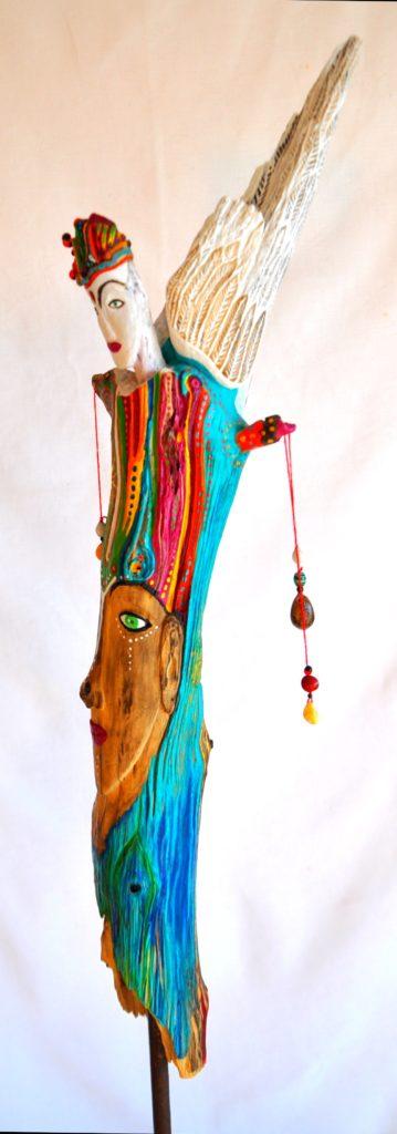 Peinture et sculpture sur bois