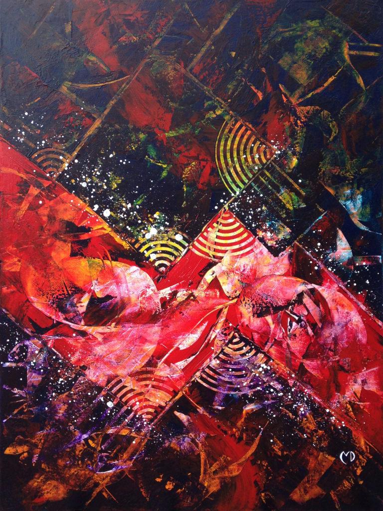 peinture acrylique abstrait