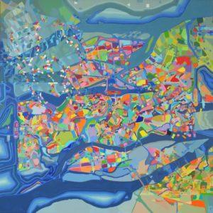 peinture et encre acrylique sur toile