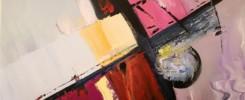 peinture acrylique abstrait sur toile