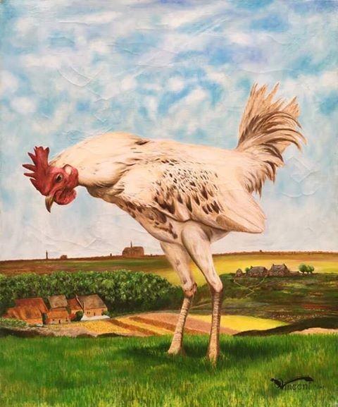Peinture à l'huile animal